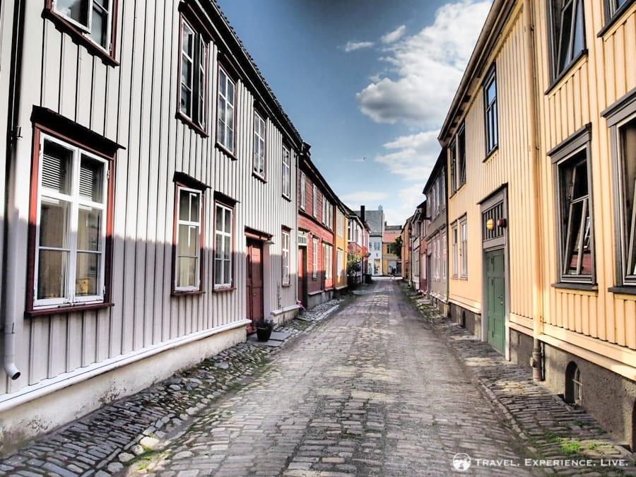 Alleyway in Trondheim, Norway