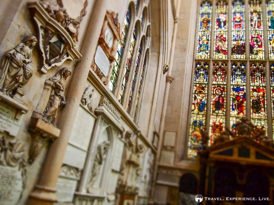 Interior details in Bath Abbey