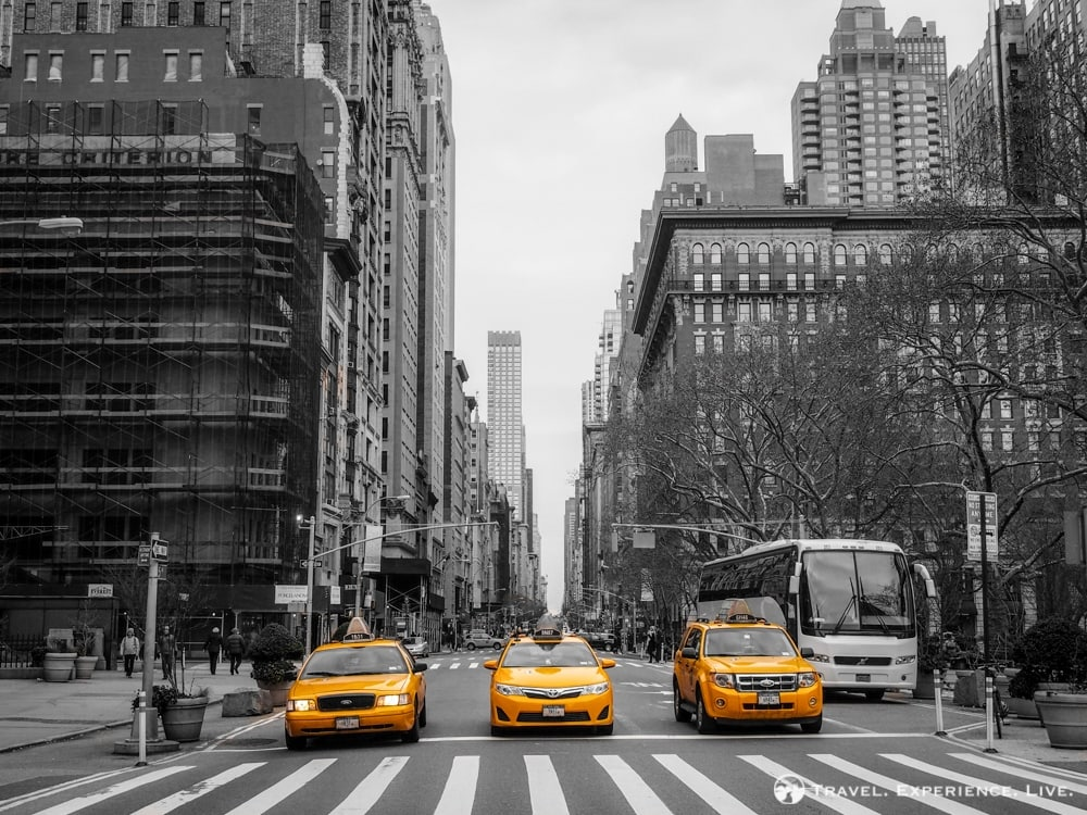 Three Taxis in Manhattan, NYC