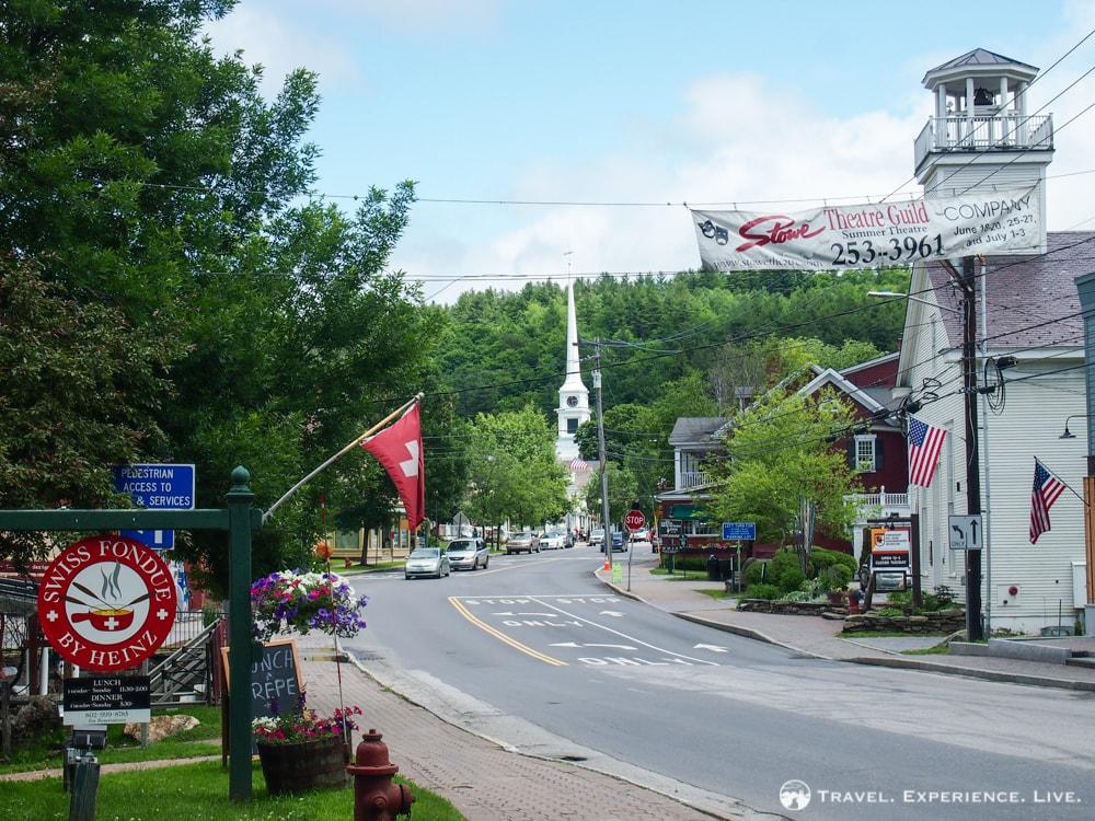 Anniversary in Stowe, Vermont: Main Street