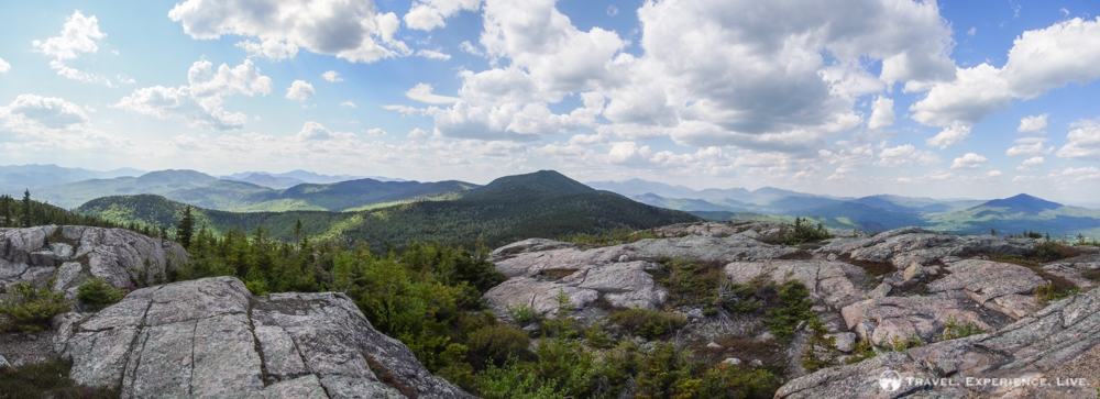 Panoramic view of Middle Moat Mountain from South Moat Mountain, New Hampshire