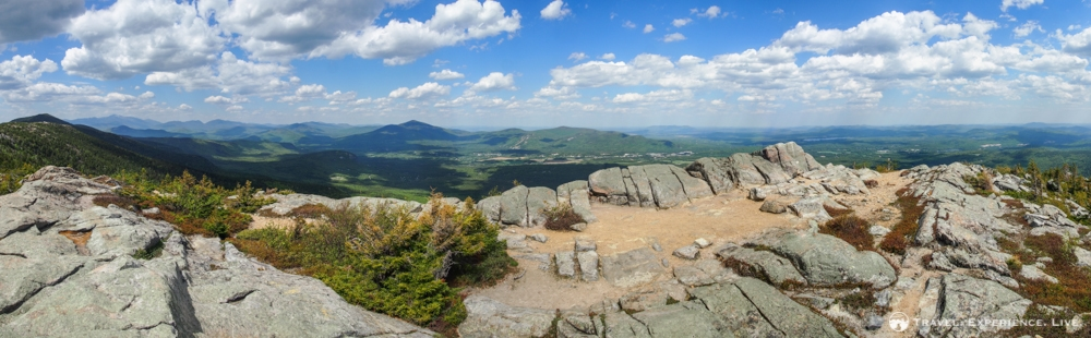 360-degree views from the summit of South Moat Mountain, New Hampshire