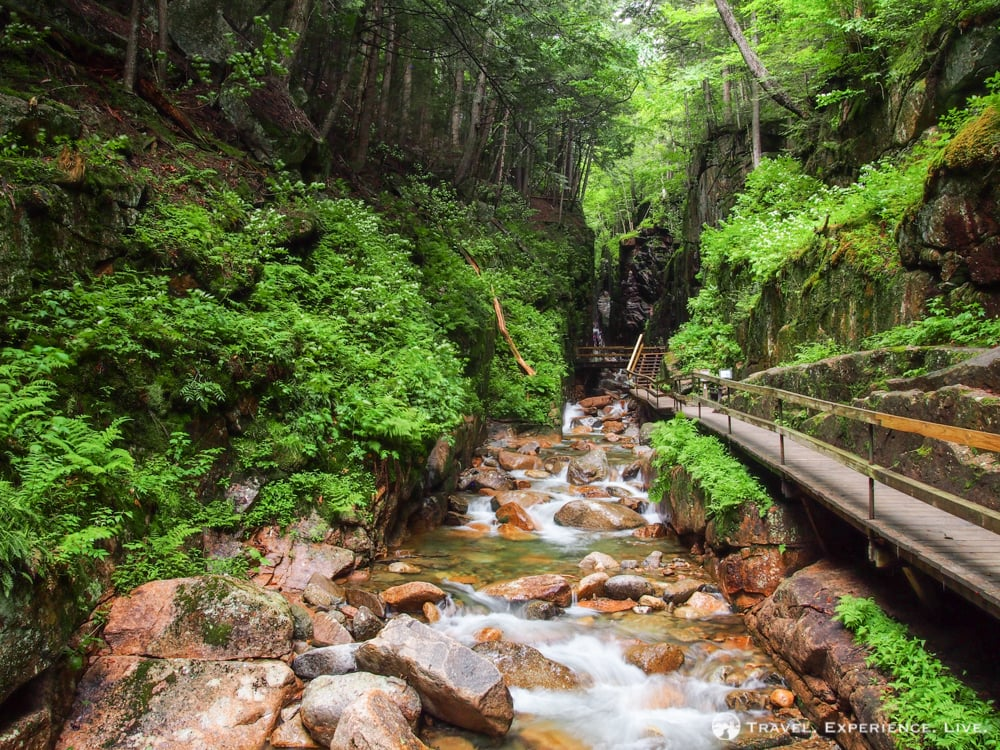 Boardwalk in The Flume, White Mountains, New Hampshire