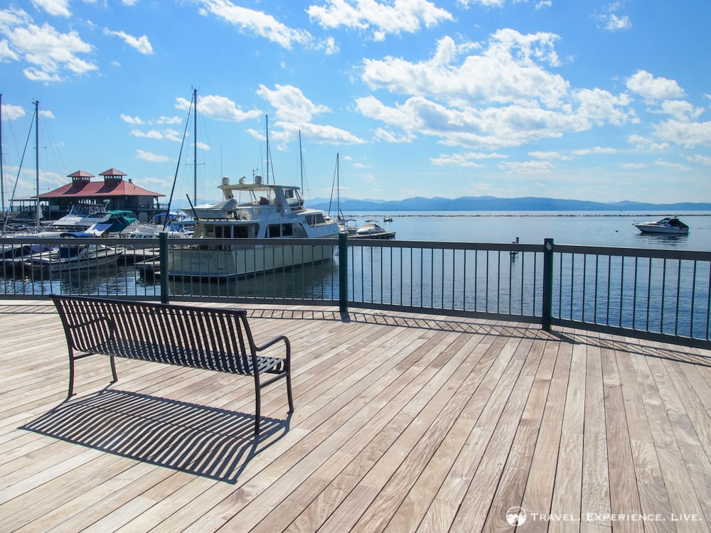 View of Lake Champlain from the Burlington Waterfront, Vermont