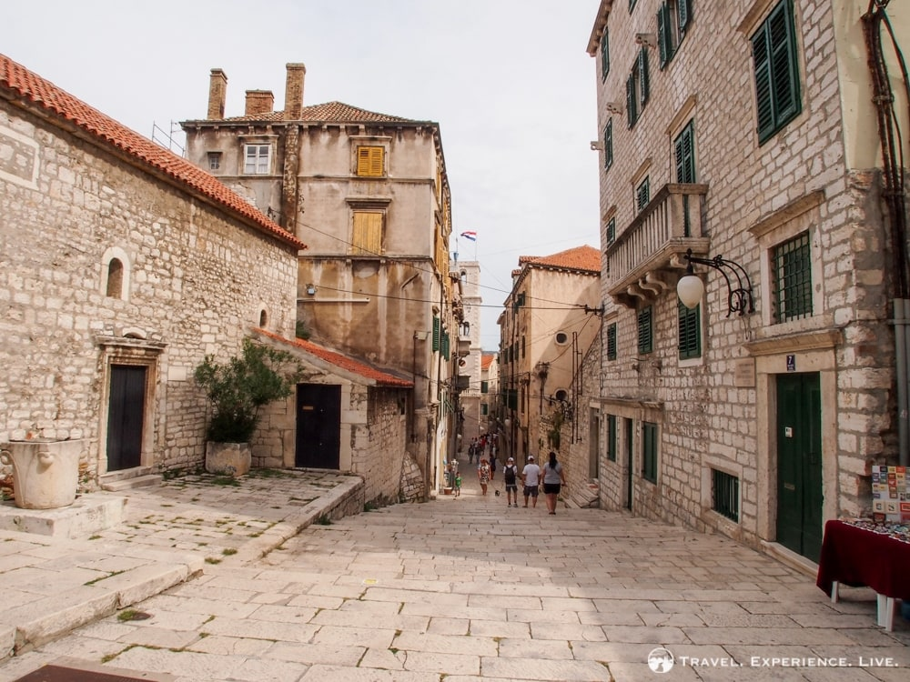 Medieval streets in Šibenik, Croatia