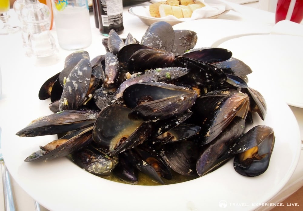 Mussels with garlic sauce, Dalmatia, Croatia
