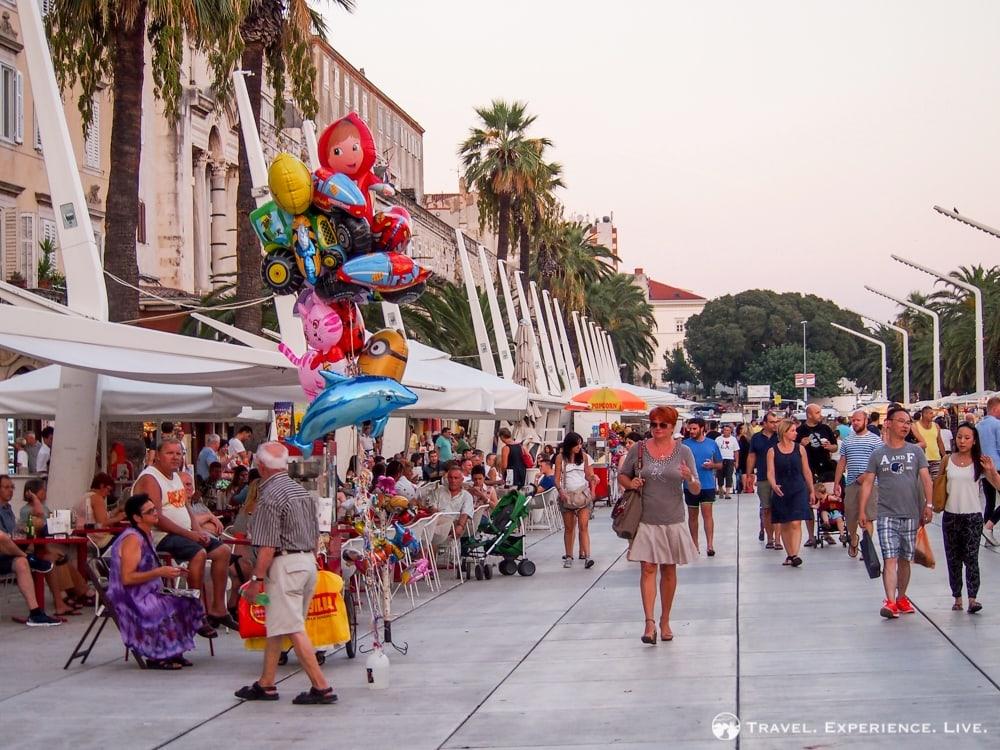 Seafront promenade or Riva, Split