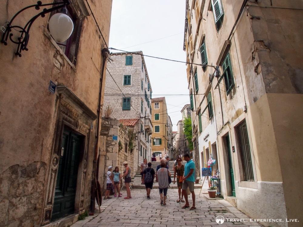 Stone street in Šibenik, Croatia - Visit Šibenik