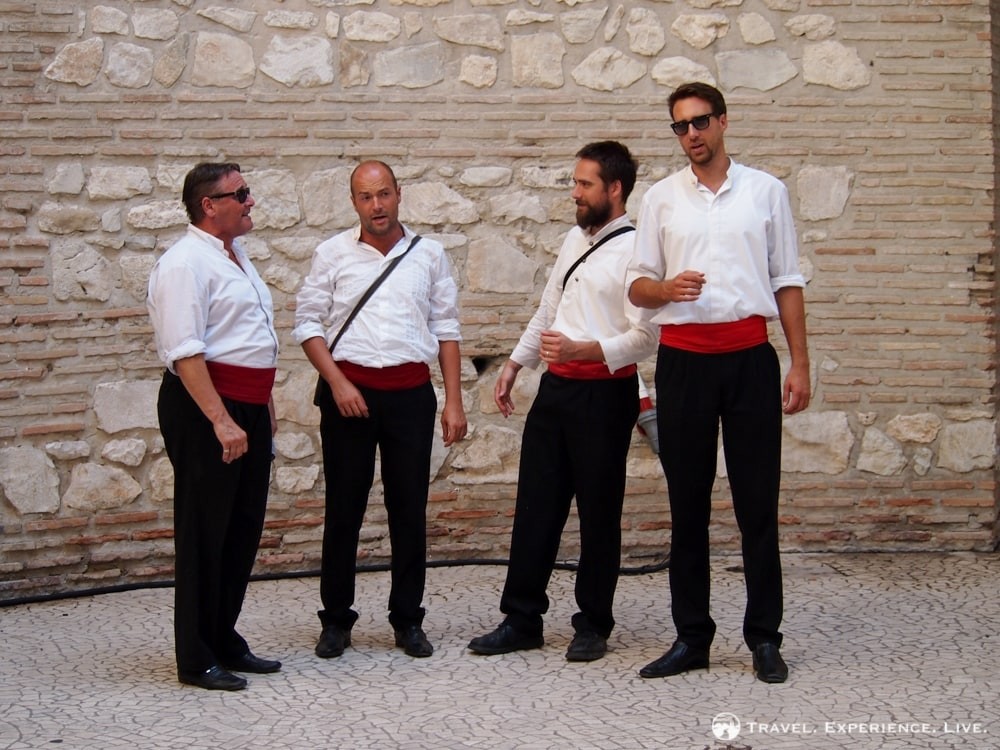 Traditional Dalmatian singers, Split, Croatia
