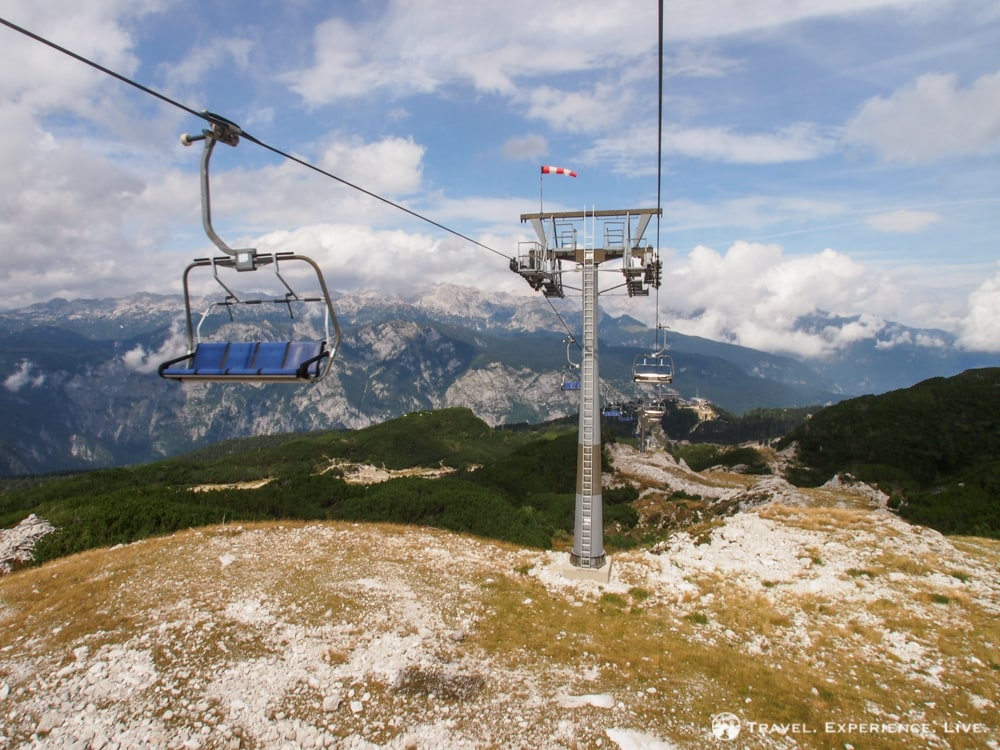 Chairlift at Vogel Ski Center, Bohinj, Slovenia