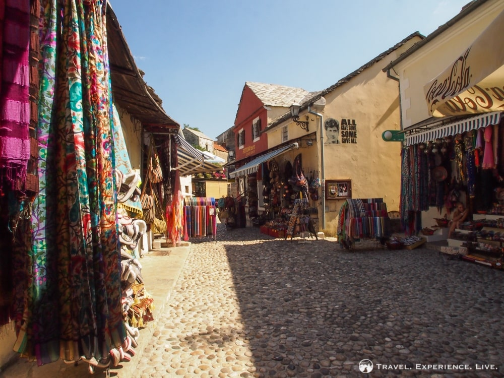 Cloth store in Old Town of Mostar