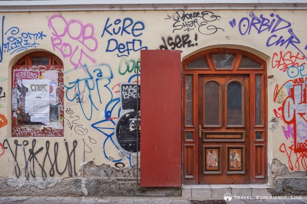 Graffiti in Ljubljana, Slovenia