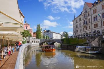Restaurant on the Ljubljanica River, Ljubljana