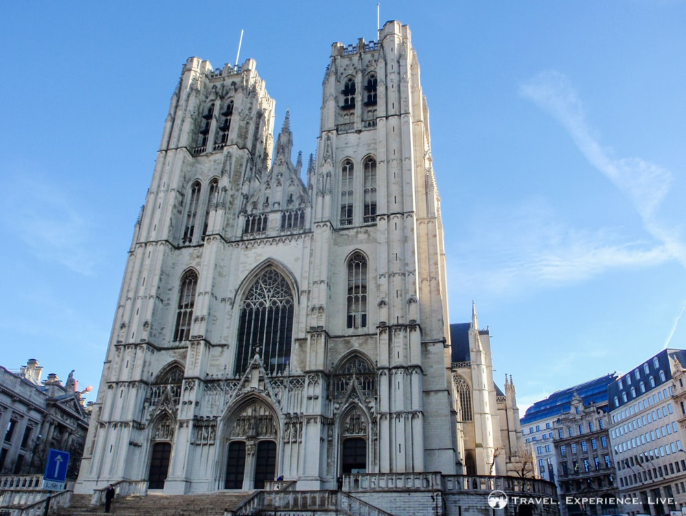 Main attractions in Brussels: Cathedral of St. Michel and Gudule
