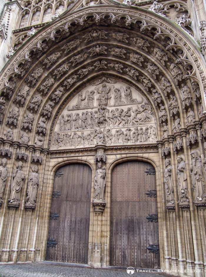 Door to Cathedral of Our Lady, Antwerp