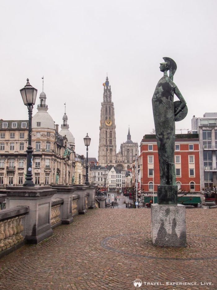 View of Cathedral of Our Lady in Antwerp
