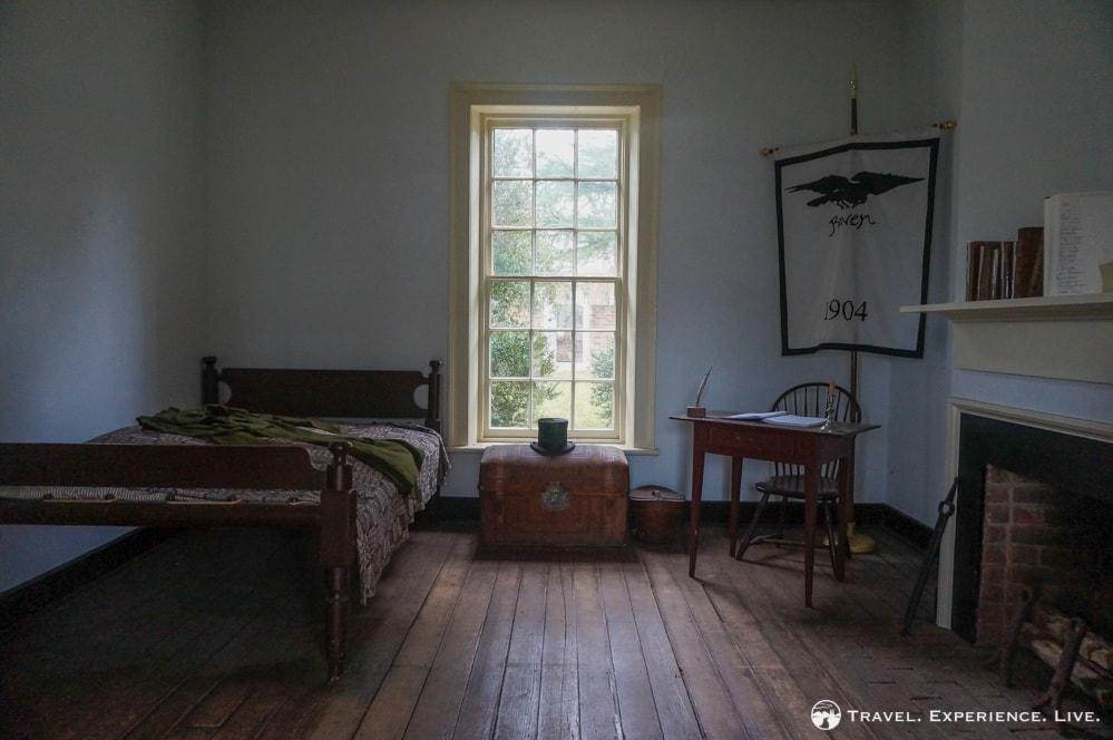 Edgar Allen Poe's room at the University of Virginia