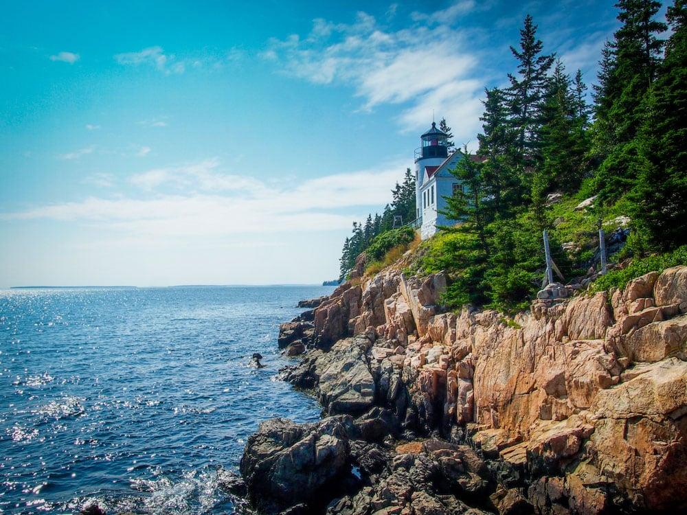 Bass Head Lighthouse in Acadia National Park, Maine