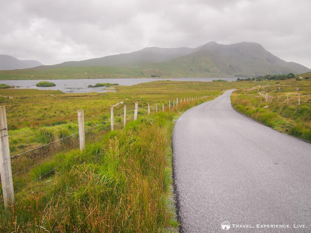 Misty road in Connemara, Ireland