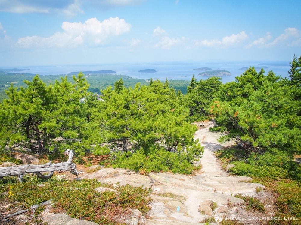 Hiking trail on Champlain Mountain, Acadia National Park