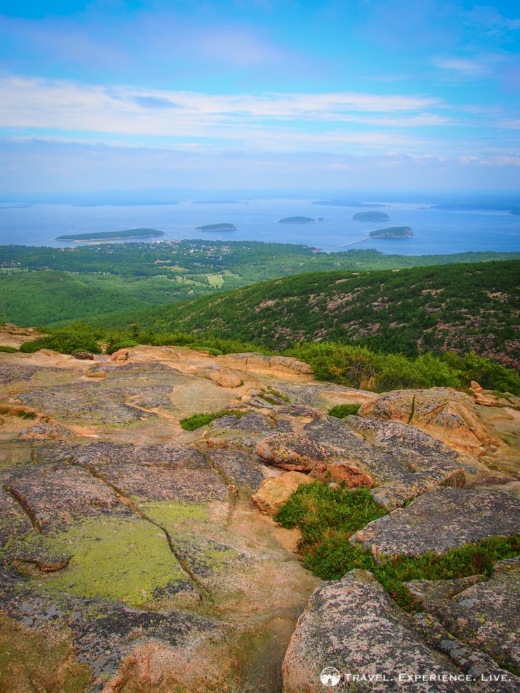 The islands in Frenchman Bay seen from Cadillac Mountain, Acadia National Park