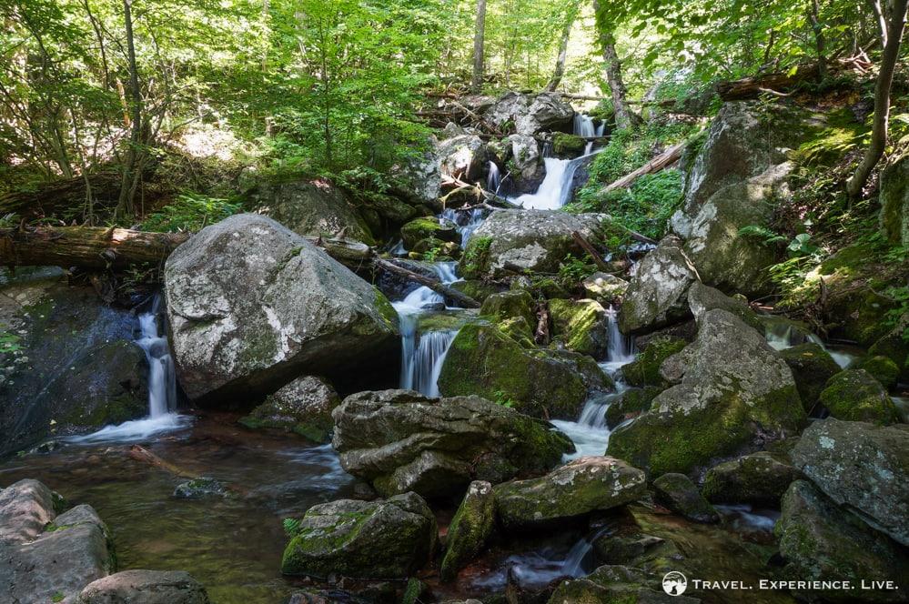 Small waterfalls at Crabtree Falls