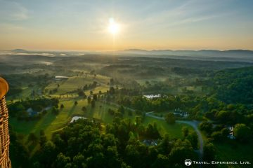 Sunrise over Albemarle County, Virginia