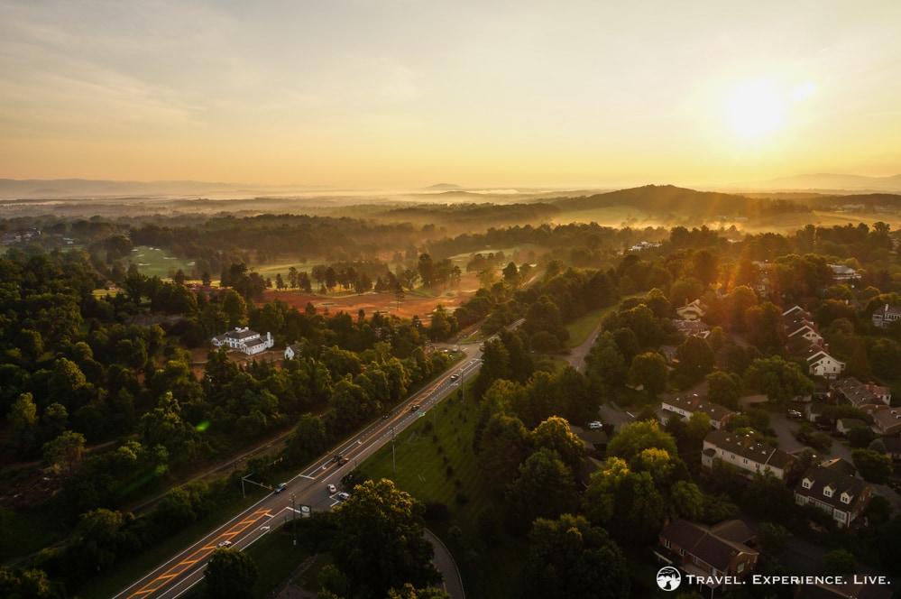 Sunrise over Charlottesville, Virginia