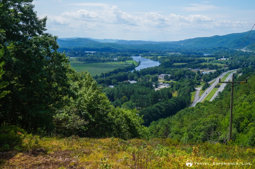 Connecticut River seen from The Palisades hike in Fairlee, Vermont