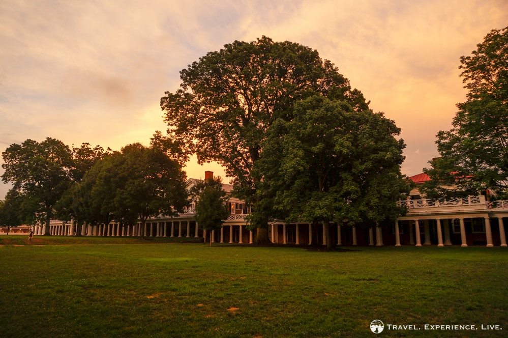 Sunset over the University of Virginia