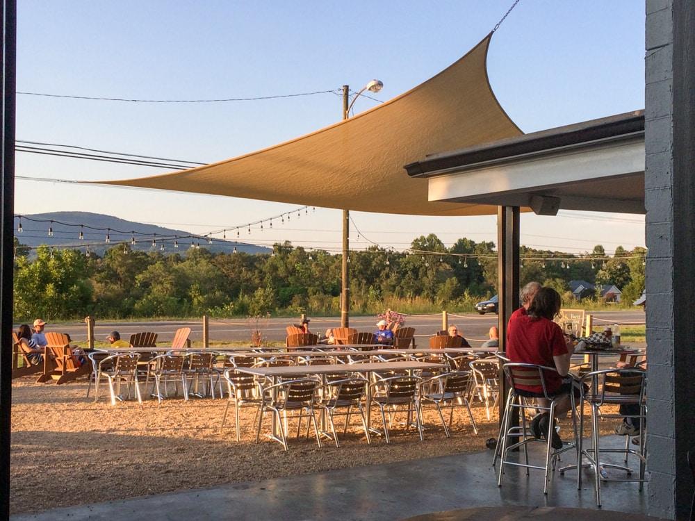 Outdoor patio, Pro Re Nata Farm Brewery