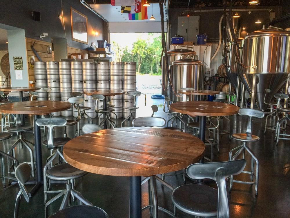 Taproom at Pro Re Nata Farm Brewery