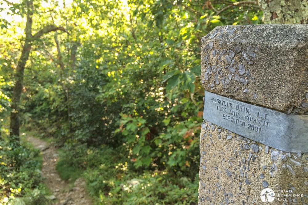 Turk Mountain Trail marker
