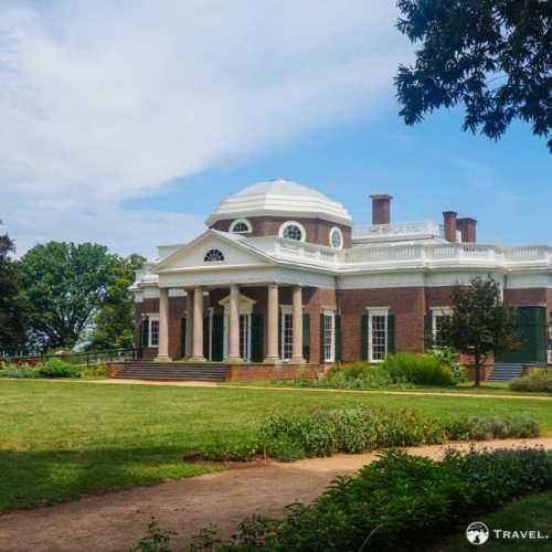 Western façade, Monticello