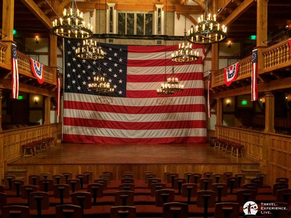 Blackfriars Theater at the American Shakespeare Center in Staunton, Virginia
