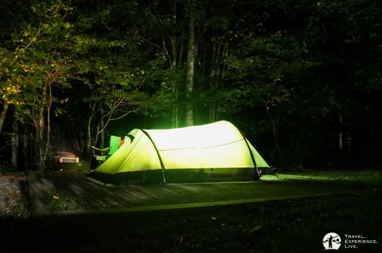 Camping in Grayson Highlands State Park, Virginia