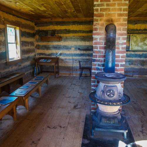 Interior of the Early American School House