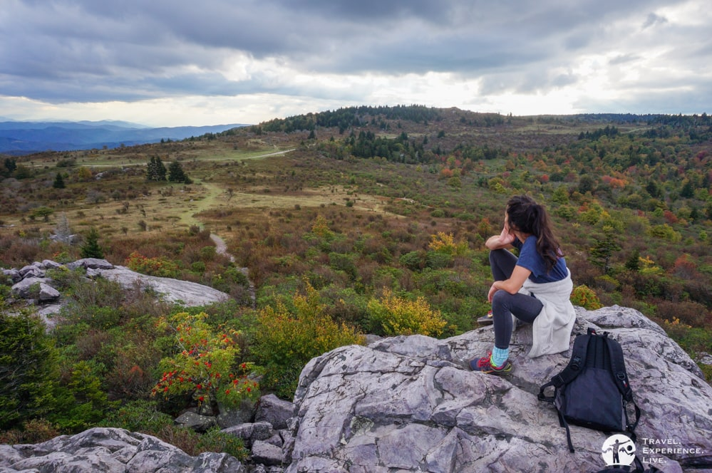 Enjoying the views in Grayson Highlands State Park, Virginia