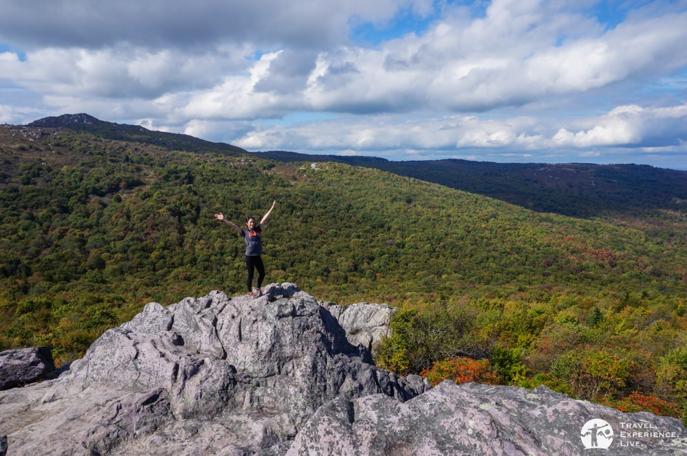 Happy hiking in Grayson Highlands, Virginia
