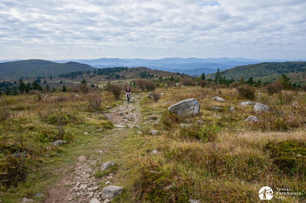 Hiking the Appalachian Trail in Grayson Highlands, Virginia