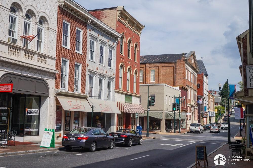 Historic architecture in downtown Staunton, Virginia