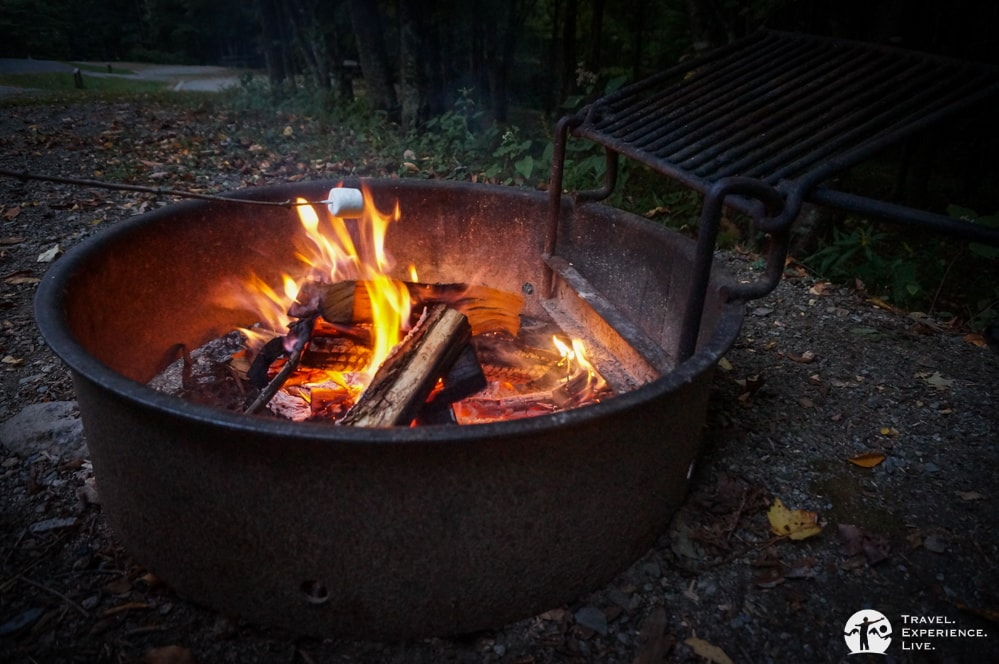 Marshmallow and campfire