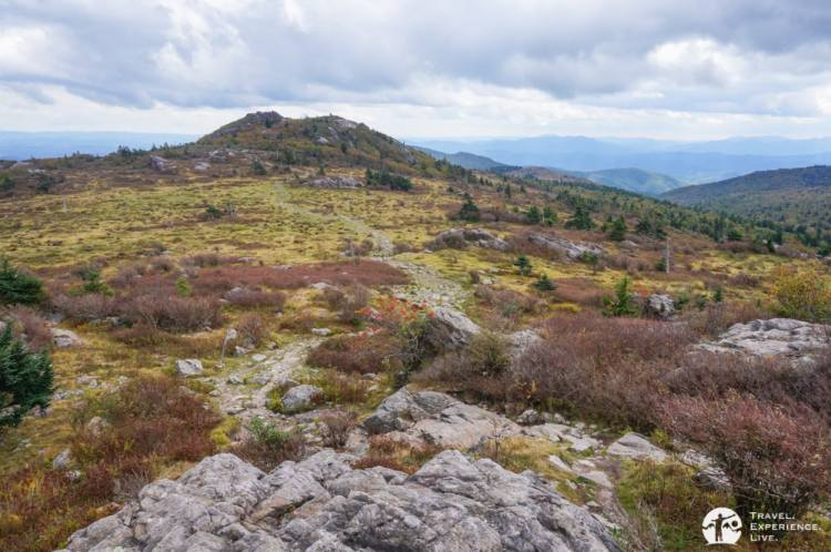 Spectacular hiking trail in Grayson Highlands, Virginia
