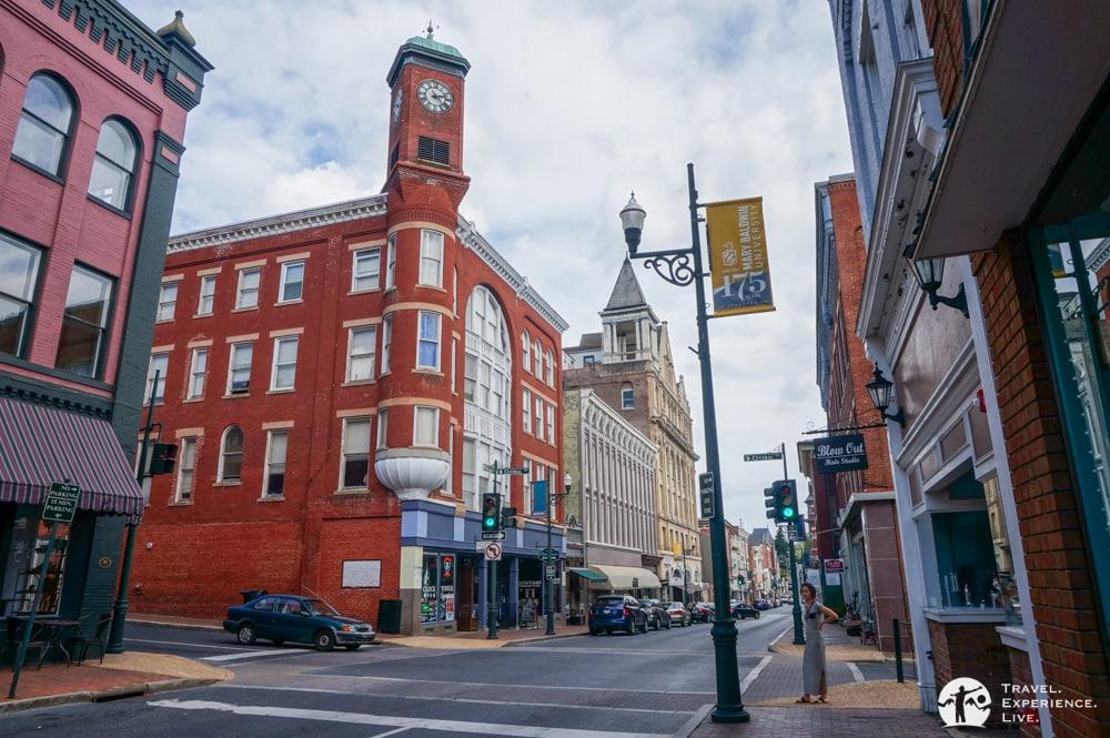The Clock Tower in Staunton, Virginia