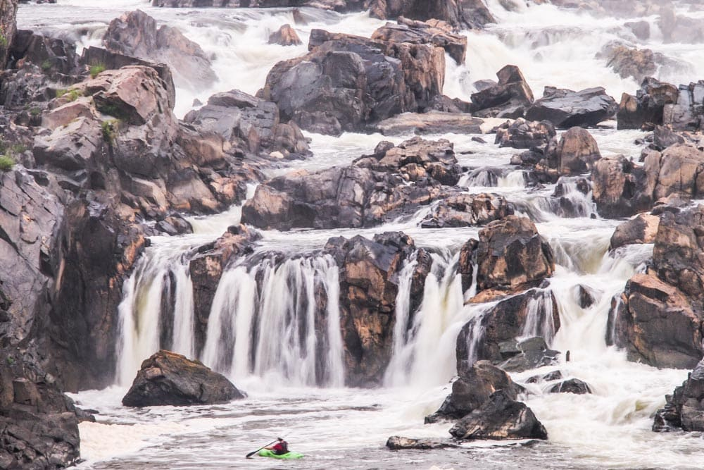 Great Falls Park waterfalls