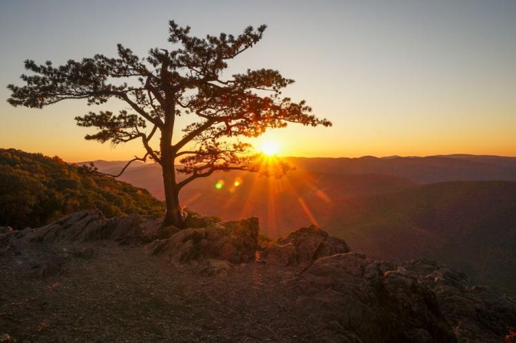 Sunset at Raven's Roost Overlook, Blue Ridge Parkway - Adventure Near Charlotte, North Carolina