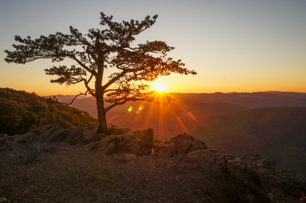Sunset at Raven's Roost Overlook, Blue Ridge Parkway - Adventure Near Charlotte, North Carolina