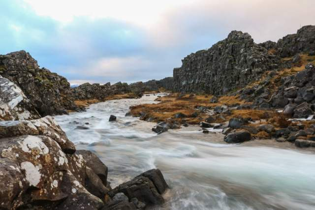 Öxara river in Thingvellir National Park, Iceland