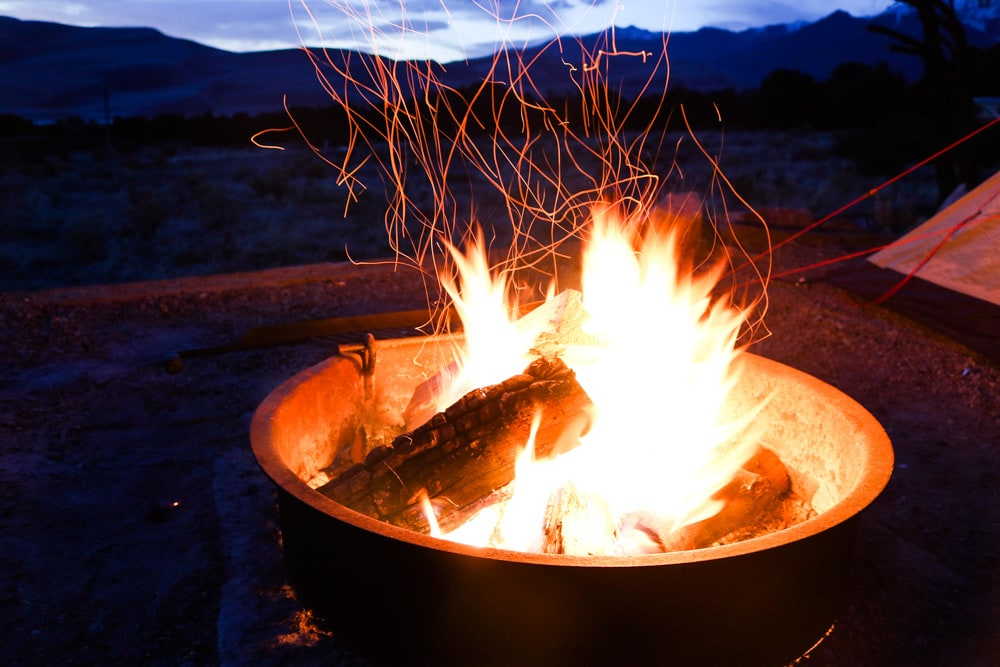 Campfire, Pinon Flats Campground, Great Sand Dunes National Park