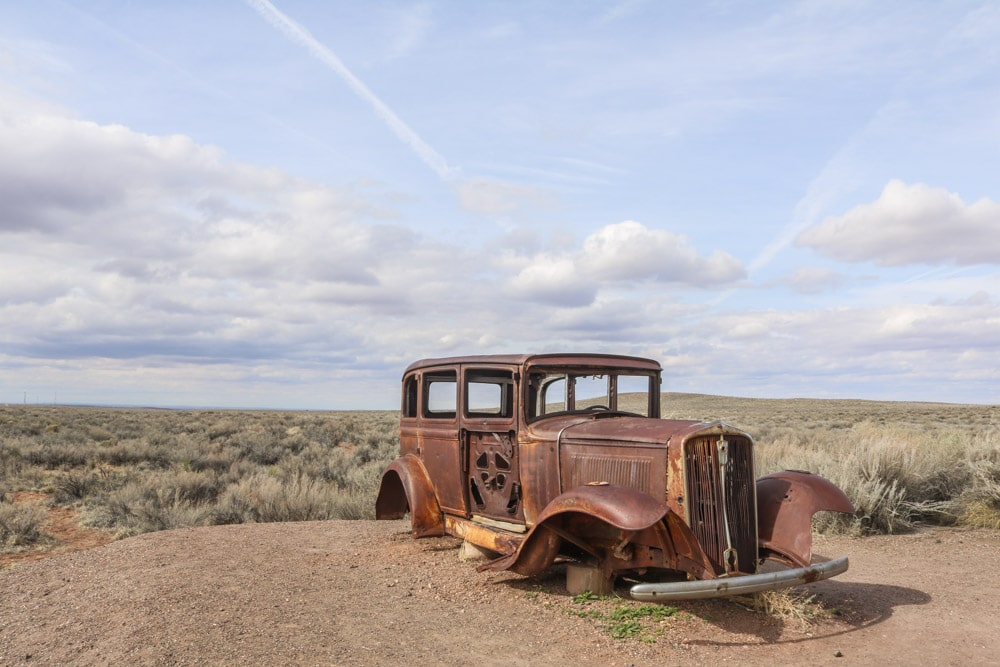 Old Studebaker on Route 66, Petrified Forest National Park, Arizona